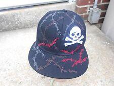 black embroidered ball cap hat Top Gear Fence design skull  7 1/4 (58 CM) EC