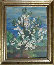 Oil Painting° Blooming Kirschbaum IN Spring° Botany Nature Landscapes Antique