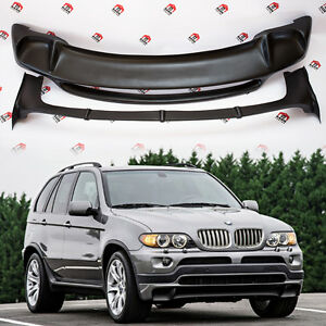 BMW X5 E53 4.8is style BODYKIT front spoiler and rear spoiler 2000-2006