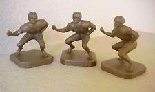 "LOT OF 3 1967 B.H. Neiden Plastic Toy Football #71 Linemen 2 1/4"" Tall  Figures"