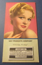 Old Vintage 1955 GAY PRODUCTS Co. Advertising CALENDAR - If It's Gay , It's Okay