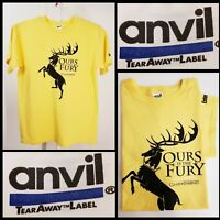 Game Of Thrones Men T-Shirt Adult Size Large L Yellow