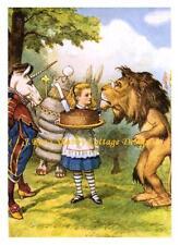 Alice In Wonderland Unicorn & Lion Fabric Block 8x10