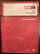 Case Schneidwerk 1030 Betriebsanleitung