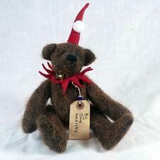 OOAK Artist Teddy Bear by Jane Hendricks, Brown Mohair, 9 1/4 Inches Tall