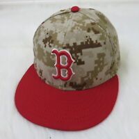 New Era Boston Red Sox Camo Official Onfield Fitted Baseball Hat - Men's 7 1/8