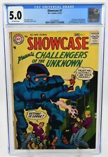 Showcase #7 (1957) CGC Graded 5.0 OW Pages DC Comics Jack Kirby Art