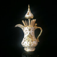 Alloy Toothpick Holders Teapot shape Statue Carved Flowers  Toothpick-box FL005