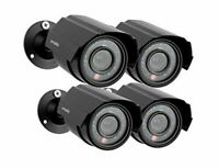 Zmodo Analog CCTV 700TVL HD Bullet Security Cameras with Night Vision *4-Pack