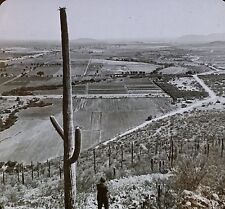Irrigation in Desert, Salt River Valley, Arizona,Magic Lantern Glass Photo Slide