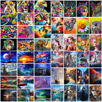 Home Decor DIY Paint By Number Kit Digital Oil Painting Animal Beauty Scenery