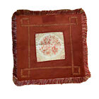 CUSHION COVER RED HANDMADE VINTAGE TAPESTRY BOTH SIDES THROW PILLOW CASE 17inch