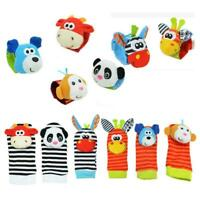 Cartoon Baby Toys 0-12 Months Sock Soft Animal Rattles Infant Children W9Y5