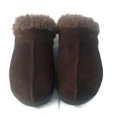 Crocs Women's Brown Suede Faux Fur Lined Sz 6