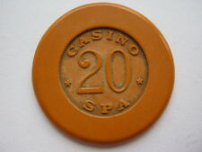 Belgium; Spa 20 franc casino chip