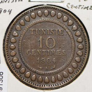 Tunisia 1904 AH 1322 10 Centimes  191306 combine shipping