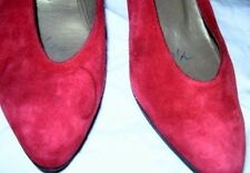 Women Shoes Italian Anne Klein New Red Suede Heels Pumps