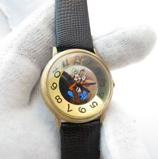 GOOFY, Mickey Inc. Disney, Classic Round Dial, RARE MENS CHARACTER WATCH,636