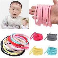 Hot 10Pcs Baby Classic Soft Nylon Headband Elastic Hair Bands DIY Hair Accessory