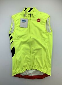 Castelli Thermal Pro Vest Men's Medium Neon Yellow New with Tags
