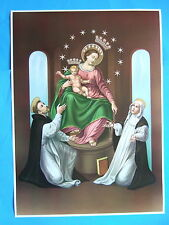 """Catholic Print Picture Poster OUR LADY OF POMPEI Rosary 20x28"""" size"""