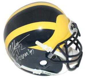 Charles Woodson Signed Michigan Wolverines Mini Helmet Heisman BAS 28098