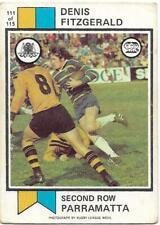 1974 Nrl Rugby League Scanlens (111) Denis FITZGERALD Eels *