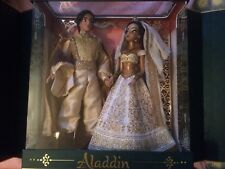 Disney Limited Edition Jasmine and Aladdin Wedding Doll Set