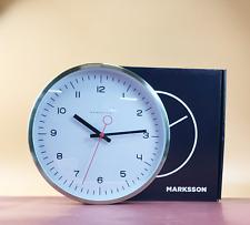 "Marksson The Crosby Silent Non-Ticking Wall Clock 12""Quartz Steel #NO0334"
