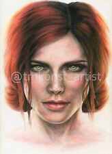 Triss Merigold Watercolor Pencils Portrait  (The Witcher 3: Wild Hunt)