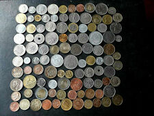 bulk mixed 103 world coins 20 -25 different countries