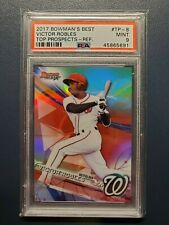 2017 Bowmans Best Top Prospects Refractor Victor Robles PSA 9 Mint