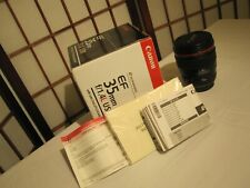 CANON EF 35mm f/1.4L USM ULTRASONIC LENS w LENS HOOD AND ORIGINAL BOX
