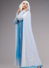 Womens Long White Hooded Snow Queen Cape