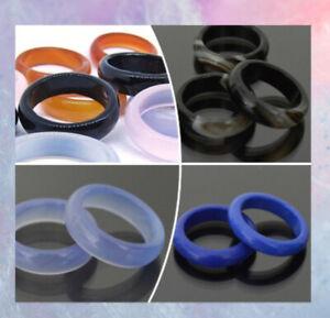 Achat Ring 6 mm Edelsteinring Fingerring Karneol Lapis Natur Stein
