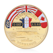 Golden Normandie Arromanches Commemorative Coin Challenge Collection Souvenir