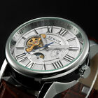 SEWOR Classic Mens Sun&Moon Black Leather Automatic Mechanical Wrist Sport Watch