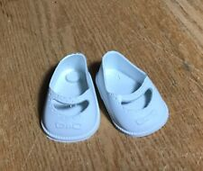 New Vintage Usa White Rubber Doll Shoes & Bow Size 3 1/2 Other Sizes Available