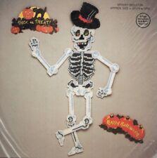 Needlecraft Spooky Skeleton Kit - Ala Mode  #W91-702 - NIP - Halloween Decor DIY