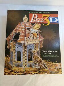 Milton Bradley Puzz 3D Woodpecker Haven Beautiful 232 PC Jigsaw Puzzle Complete