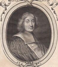 Portrait XVIIe César d'Estrées Cardinal  Evêque de Laon Evêque d'Albano 1680