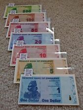 "Zimbabwe ""Complete 2009 Issue"" 4th Dollar (ZWL) $1-$500 p7 {pakimProPAK}: VA047c"
