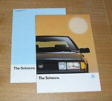 Volkswagen VW Scirocco Brochure 1990 - 1.8 GT 2 & 1.8 Scala Injection