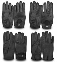 MEN'S LEATHER FULL FINGER DRIVING GLOVES CHAUFFEUR STYLE RETRO CLASSIC VINTAGE
