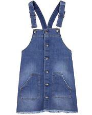LOSAN Junior Girl's Denim Overall Dress, Sizes 8-16