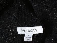 MEREDITH BlackMetallicRibbedS/sTurtleNeck SizeS as NEW