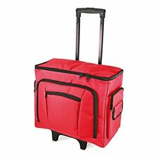 NEW BIRCH RED  SEWING TROLLEY BAG WITH PULL UP HANDLE