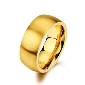 MIAMI WHITE Ring DIAGO Edelstahl golden mattiert