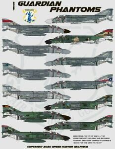 Speed Hunter Graphics 1/48 decals F-4 Phantoms in USANG for Zoukei Mura 48025