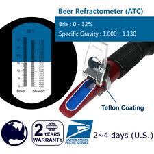 Beer ( 0-32% Brix & Specific Gravity ) Refractometer ATC | fruit juice wine test